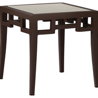 Redington Side Table, w/ Glass, Outdoor Side Tables
