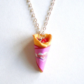 Kawaii Necklace Tokyo Crepes Necklace Miniature Food Jewelry