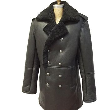 Shearling Sheepskin Leather Coat