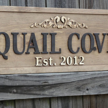Custom Wooden Signs Personalized CARVED by michaelswoodworks