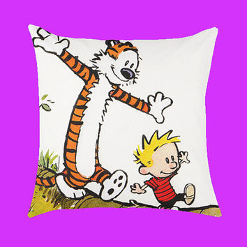Calvin and Hobbes Case - Pillow Case, Rectangle Pillow One Side/Two Sides.