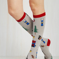 Boho Thrill of the Wilderness Socks Size OS by ModCloth