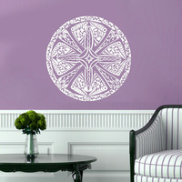 Mandala Decals Forgiveness Mandala Pattern Vinyl Sticker Bedroom Lotus Flower Wall Decals Boho Indian Decor Yoga Buddha Stickers  T220