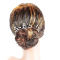 Bridal Hair Vine, Wedding Hair Vine, Hair Jewellery, Pearl Hair Vine, Pearl And Crystal Hair Vine