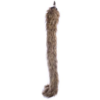 Wildlife Tree Plush Monkey Tail Clip-On Accessory for Monkey Costume, Cosplay, Pretend Animal Play or Safari Party Costumes
