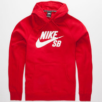 Nike Sb Icon Mens Hoodie Red  In Sizes