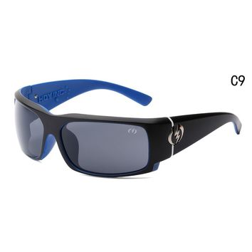 Sunglasses Visual Charge Gloss black blue/ gray lens Wrap Msrp NEW 2018