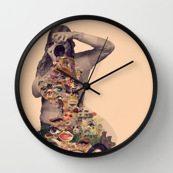 I See You Wall Clock by Alayna Hanson