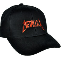 Red Metallica Lightning Bolts Hat Baseball Cap Heavy Metal Clothing