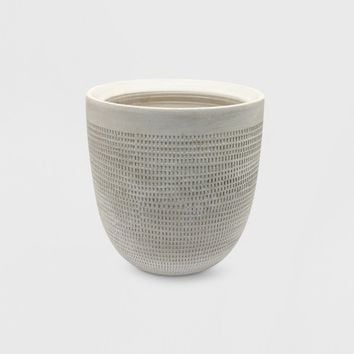 "9"" Textured Ceramic Planter White - Project 62™"