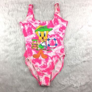 VTG Looney Toons Tweety High Hip One Piece