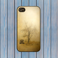 Supernatural sam and dean winchester 1967 Chevrolet Impala hard mobile phone case for the iphone 4, 4s or the iphone 5