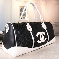 shosouvenir :CHANEL Women Fashion Leather Tote Handbag Travel Luggage Bag