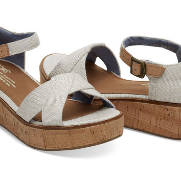 NATURAL YARN DYE WOMEN'S HARPER WEDGES