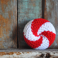 Peppermint Twist Baby Rattle Crocheted Baby Toy