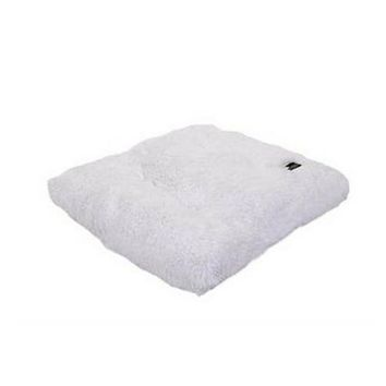 Square Pillow Bed — White Shag