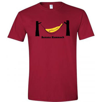 Funny Shirt - Banana Hammock - Tee Shirt TShirt T-Shirt - Mens OR Womens Ladies