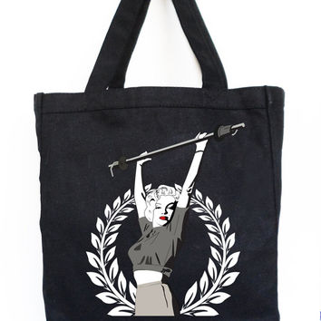Marilyn Monroe Lifting Workout Tote - Gym Bag, Grocery Bag, Crossfit Bag, Wokout bag, Gym Tote, Marilyn Monroe