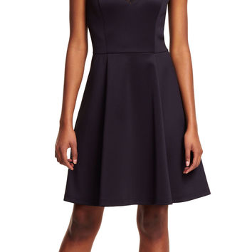 Geometric Paneled Fit and Flare Dress - Adrianna Papell