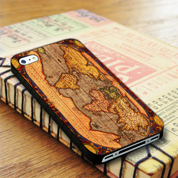 Old World Map iPhone 4 | iPhone 4S Case