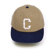 CHARI & CO NYC - THIRD LETTER ADJUSTABLE BALL CAP TAN