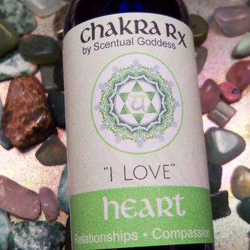 "Heart Chakra Spray ""I Love"" - Open Your Heart Center, Let Go of Regret, Heal Grief, Feel More Loved"
