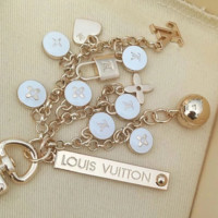 Louis Vuitton LV New fashion accessories round letter lock keyring fashion