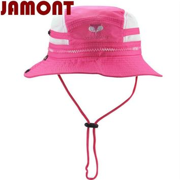 [JAMONT]cartoon cute children summer sun hat kid Breathable mesh bucket hat wide brim fishing cap for baby girl boy beach panama