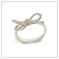Forget Me Knot Ring Material: Sterling Silver, Size: 6