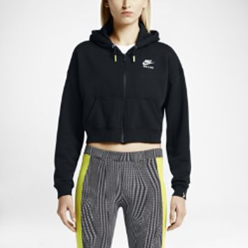 Nike Track and Field Crop Full-Zip Women's Hoodie