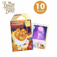 Limited Beauty and The Beast Fujifilm Instax Mini 8 Instant Film 10pcs Photo Paper ForCamera and Share Smartphone Printer