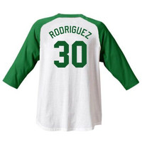 "Benny "" The Jet "" Rodriguez Sandlot Jersey T-Shirt #30 SL Baseball Movie Benjamin Franklin Sand Lot New"