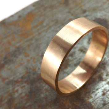 elegant bronze ring rustic wedding ring 4mm or 5mm wide ring band mens ring modern ring matte finish