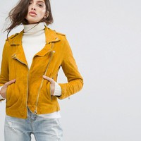Goosecraft Soft Suede Biker Jacket at asos.com