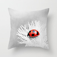 lady in red Throw Pillow by Viviana González   Society6