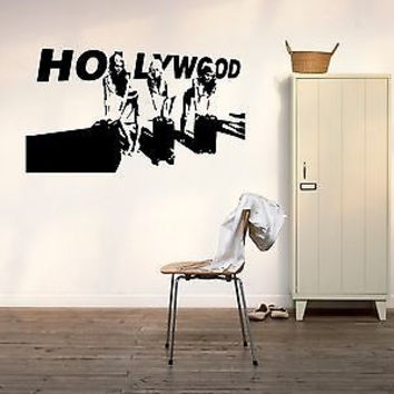 Hollywood Wall Decal Hollywood Sticker Movie Star Room Living Room Decor 3731