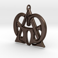 Monogram Initials GGA Pendant by CalicoFlair on Shapeways