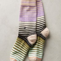 Spectrum Stripe Socks by Anthropologie Violet One Size Socks