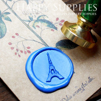 1pcs The Eiffel Tower Gold Plated Wax Seal Stamp (WS141)