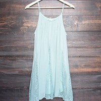 sage green slip dress