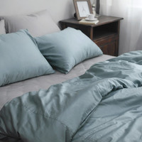 Mist Blue/ Teal / Assorted Colored Premium Cotton Sateen Hotel Twin / Queen Size Bedding Set