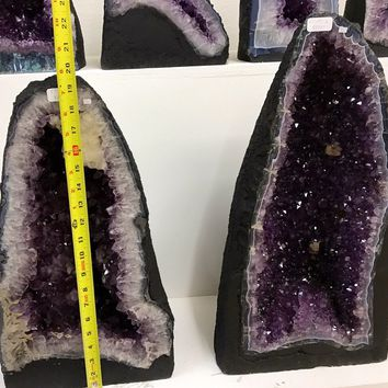 Amethyst Cathedral 60LBS from Brazil- 14 inches Tall High Grade- Home Decor \ Metaphysical \ Crystal \ Geode \ Amethyst Geode \ Amethyst
