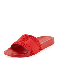 Versace Mens Medusa & Greek Key Shower Slide Sandal
