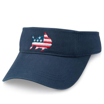 Oh Say Can You See Visor in Navy by Southern Tide