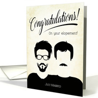 Congratulations Gay Male Elopement card