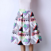 Blue Triangle Tutu Skirt