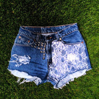 Lace High Waisted shorts.