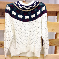 """""""Counting Sheep"""" Vintage Sweater"""