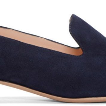 Navy Casati Pearl Loafers