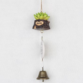 Creative Resin Wind Chimes Succulents Plants